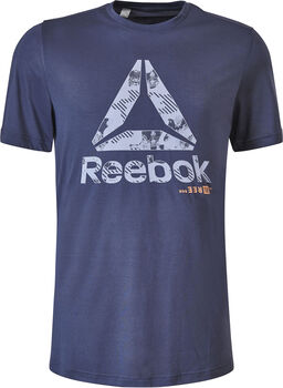 Reebok Actron Graphic shirt Heren Blauw