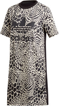 ADIDAS Animal Print T-shirt jurk Dames Wit