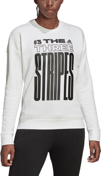 ADIDAS Must Haves Graphic sweater Dames Wit