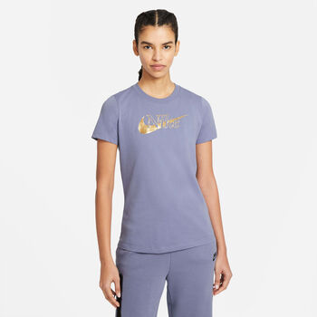 Nike Sportswear t-shirt Dames Blauw