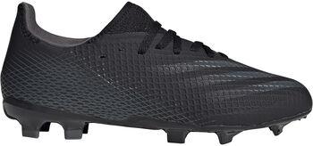 adidas X Ghosted.3 Firm Ground kids voetbalschoenen Zwart