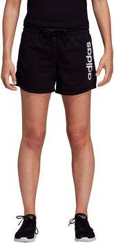 adidas Essentials Linear Logo short Dames Zwart