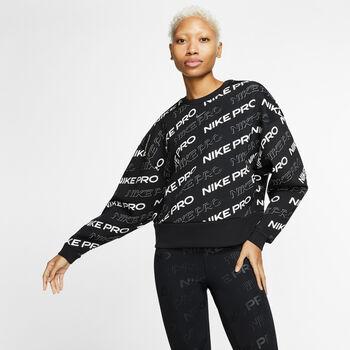 Nike Pro Fleece Crew sweater Dames Zwart
