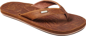 Reef Drift Away Leather slippers Dames Bruin